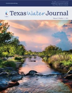 Cover of Volume 12 of the Texas Water Journal