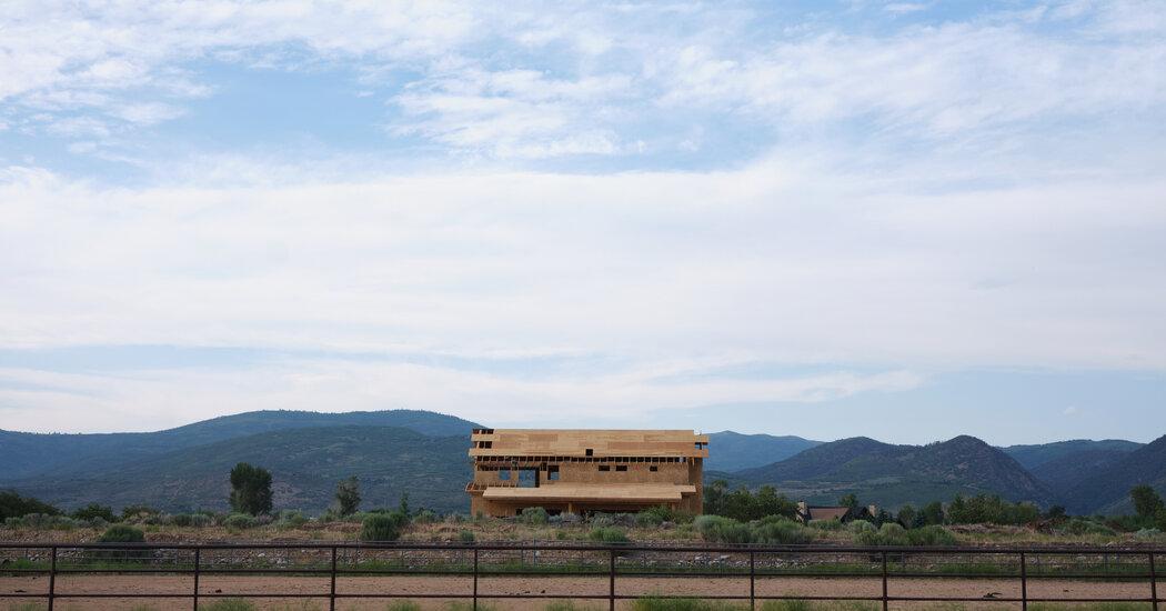 A Half-constructed Building Set Against The Utah Landscape