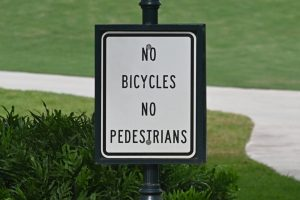 """Sign that says """"No Bicycles, No Pedestrians"""""""