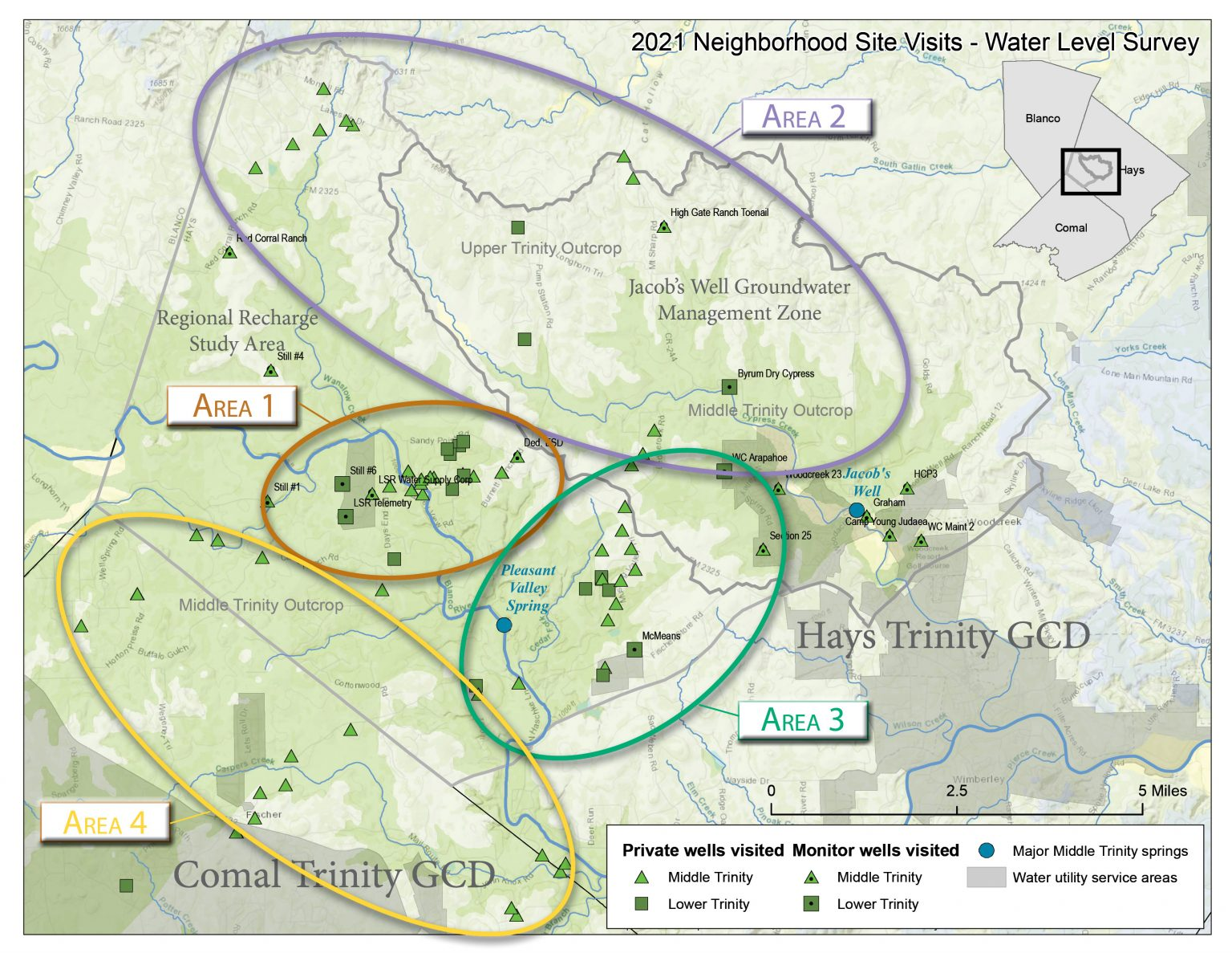 Results From Well Visits – Trinity Aquifers