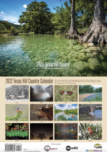 2022 Hill Country Calendar cover depicts a clear Hill Country river