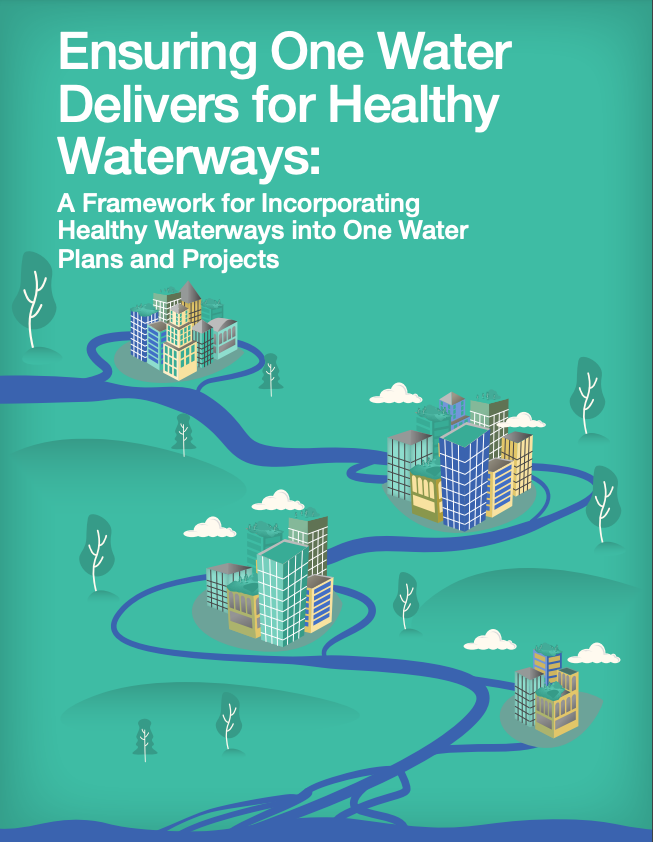 Cover for Ensuring One Water Delivers for Healthy Waterways - a report from National Wildlife Federation